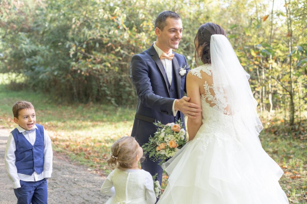 Photos de couple mariage au Parc de la Mévellière