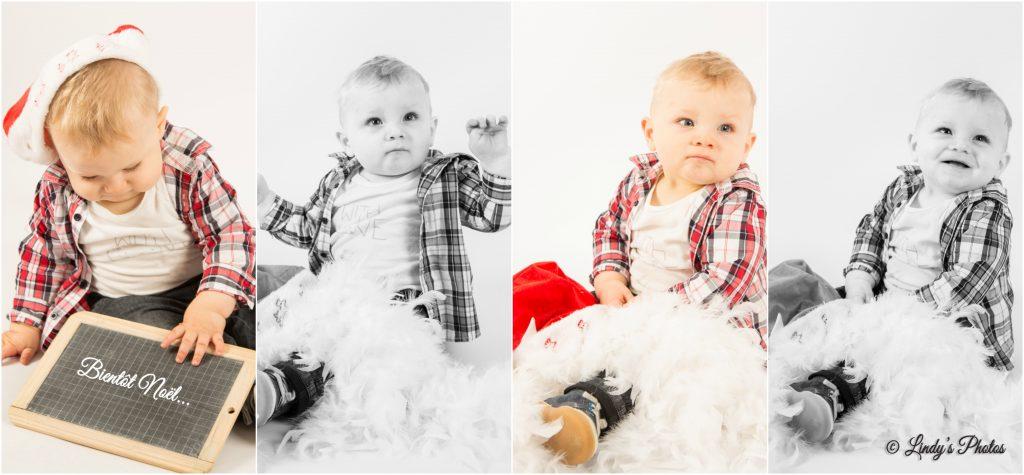 Photo de bébé à Noël