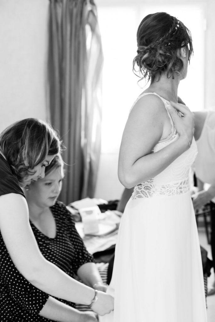 Photo préparatifs mariée à Sautron
