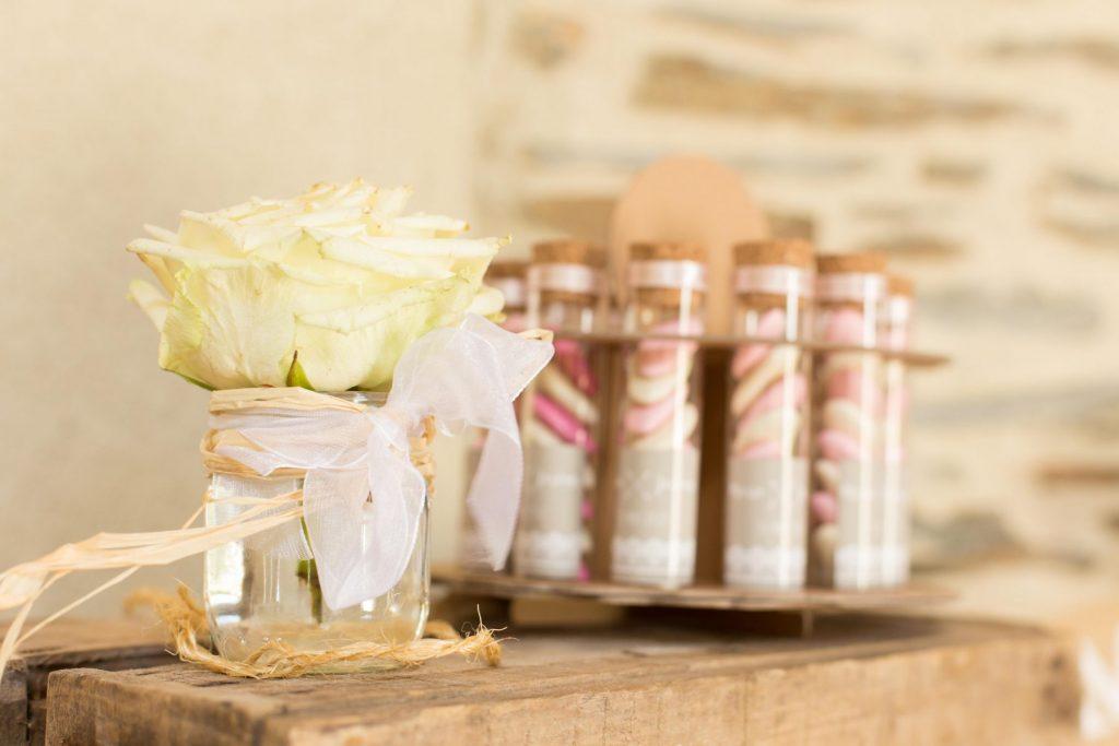 Photos de décoration mariage au Manoir de la Jahotière
