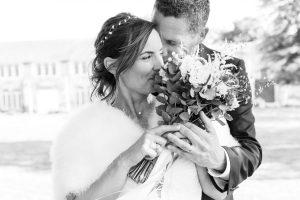 Photos de couple au Manoir de la Jahotière