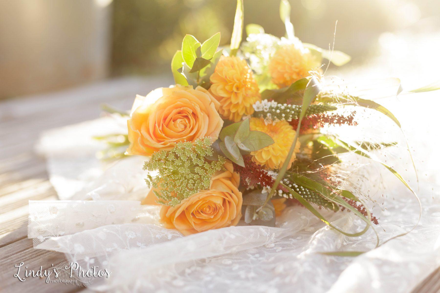 Photo de bouquet de mariée automne