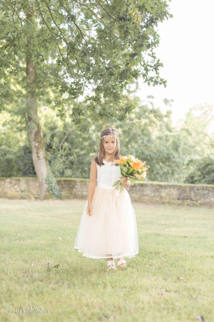portrait d'enfant mariage au château du Pé