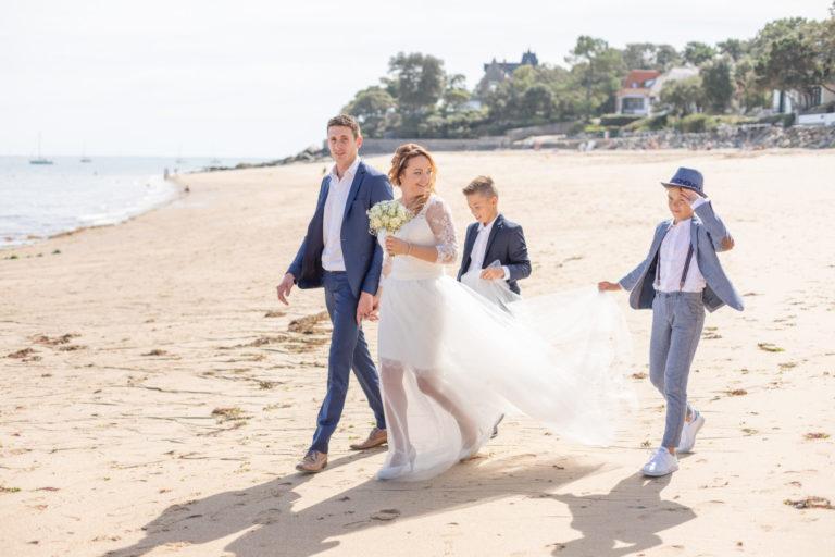 Photos de famille mariage à la plage