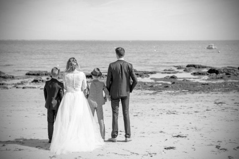 Photo de famille mariage à Noirmoutier