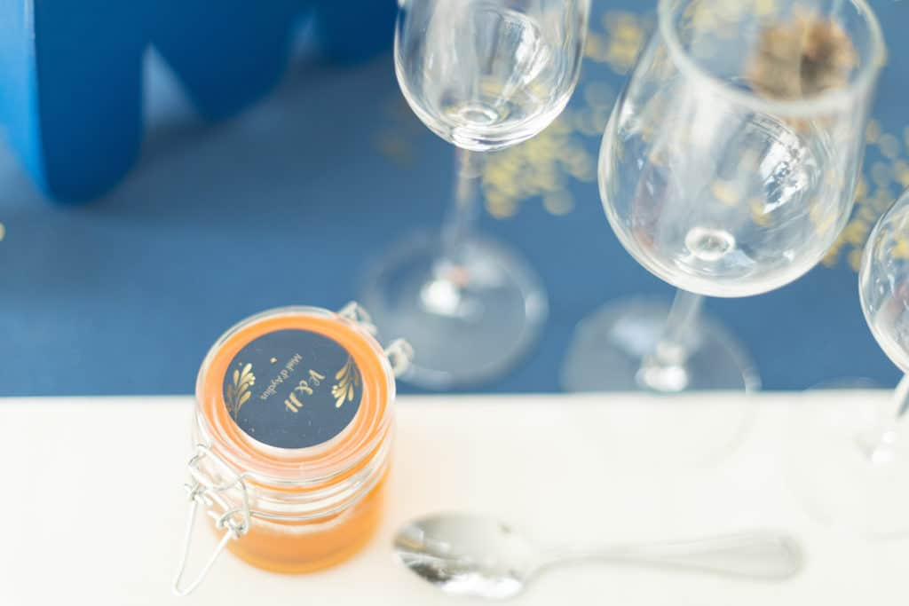 Photo décoration mariage pot de miel