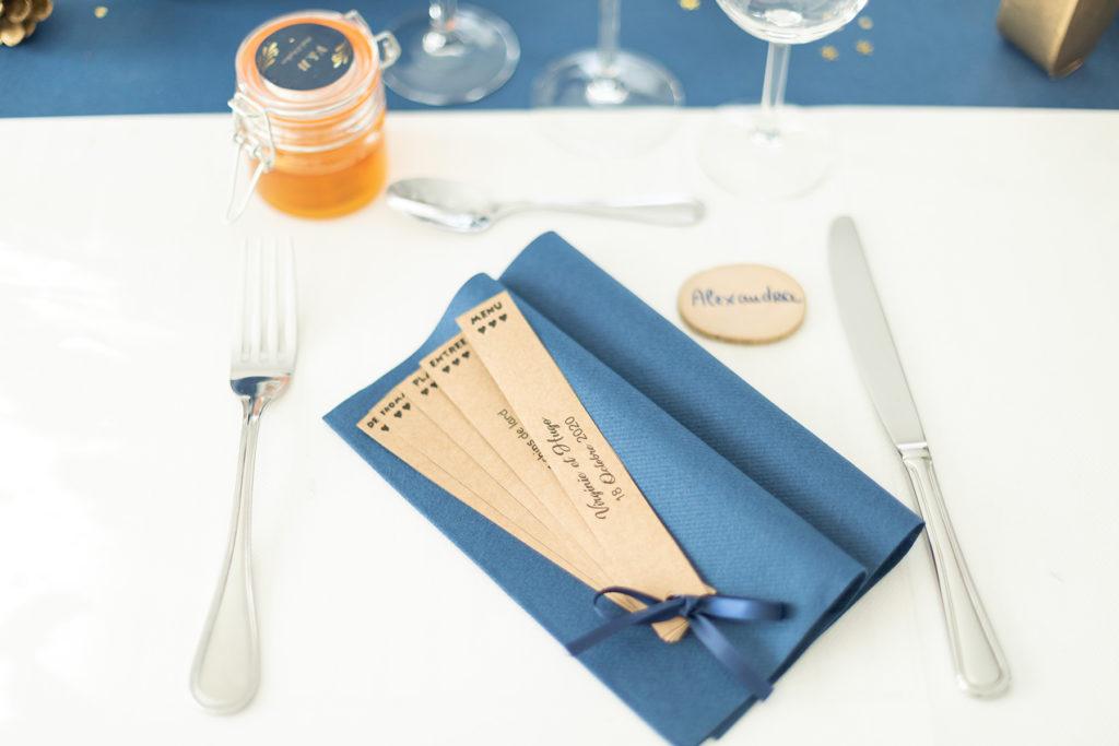 Photo idée menu mariage