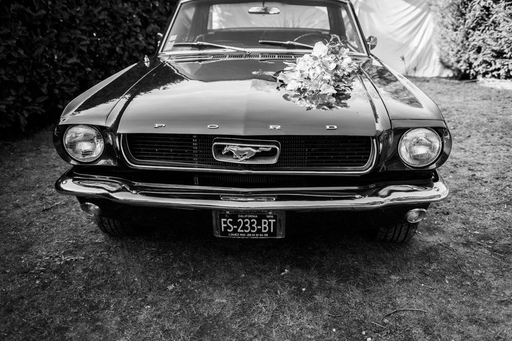 Photo mariage mustang